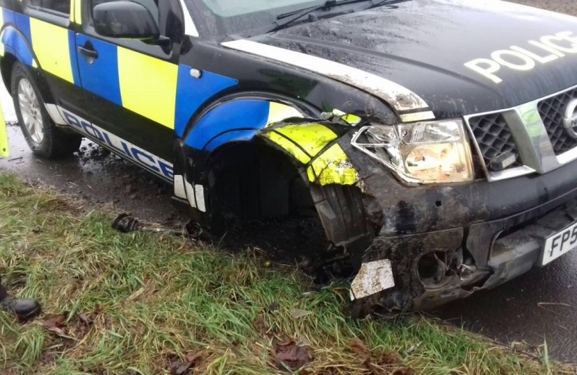 police car damage