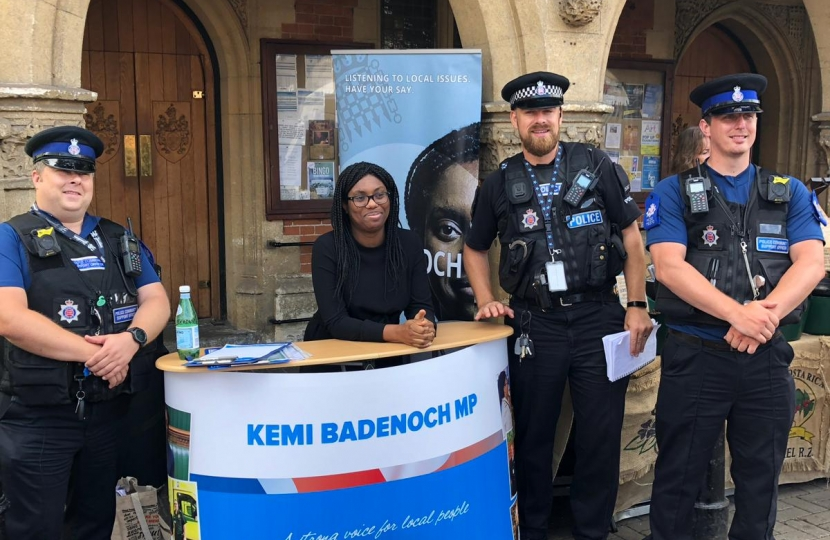 Kemi Badenoch MP meets with constituents at street stalls